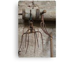 old pitchfork for hay Canvas Print