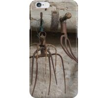 old pitchfork for hay iPhone Case/Skin