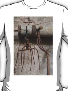 old pitchfork for hay T-Shirt