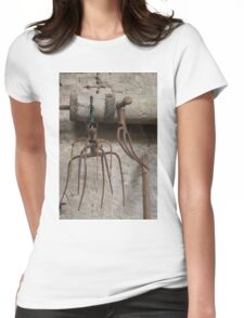old pitchfork for hay Womens Fitted T-Shirt