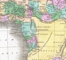 Vintage Map of Africa (1827)  Sticker