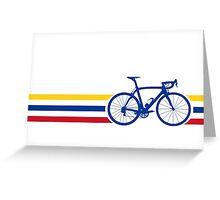 Bike Stripes Colombia v2 Greeting Card
