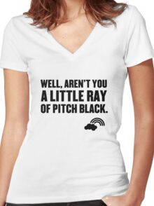 Well aren't you a little ray of pitch black. Women's Fitted V-Neck T-Shirt