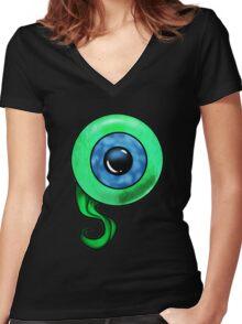 Jack Septic Eye Women's Fitted V-Neck T-Shirt