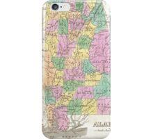 Vintage Map of Alabama (1827) iPhone Case/Skin