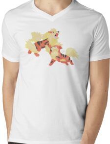 Fire Pawer Mens V-Neck T-Shirt