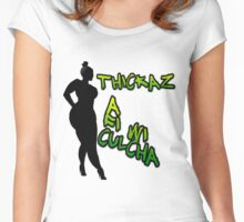 THICKAZ Women's Fitted Scoop T-Shirt