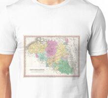 Vintage Map of Belgium (1827)  Unisex T-Shirt
