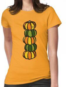 Helloween Pumpkins Totem Pole Womens Fitted T-Shirt