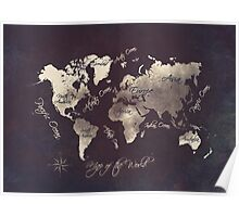 world map 18 Poster