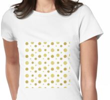 Seamless pattern gold texture Womens Fitted T-Shirt