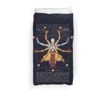 Vitruvian Omnic - color version Duvet Cover