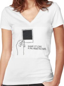 Shake it like a Polaroid picture Women's Fitted V-Neck T-Shirt