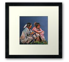 Pondering The Way Framed Print