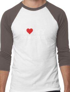 I Love My Computer Men's Baseball ¾ T-Shirt