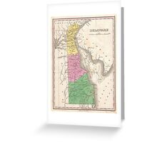 Vintage Map of Delaware (1827) Greeting Card