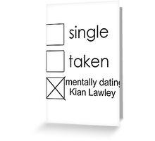 single Kian Greeting Card