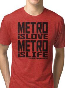 Metro is Love, Metro is Life Tri-blend T-Shirt