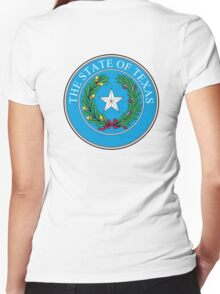 Seal of Texas, State of Texas, America, American, USA, US Women's Fitted V-Neck T-Shirt