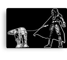Darth Vader Walking ATAT Canvas Print