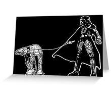 Darth Vader Walking ATAT Greeting Card