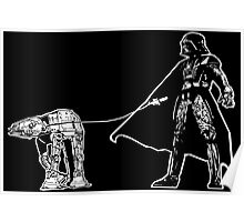 Darth Vader Walking ATAT Poster