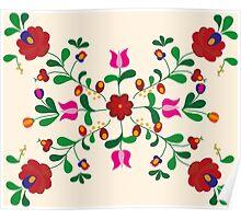 Folk Flowers Poster