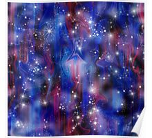 Galaxy beautiful night abstract sky image Poster