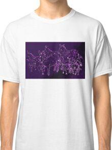 Funky Purple Zebra Herd Classic T-Shirt