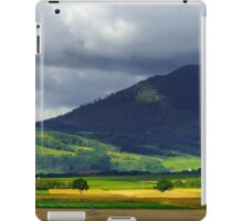Beautiful colorful rural landscape with contrast areas of light and shadows, Alsace, France iPad Case/Skin