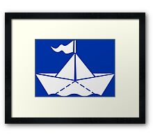 Paperboat VRS2 Framed Print