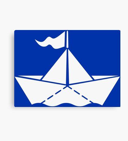 Paperboat VRS2 Canvas Print
