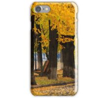 urban waterfront with yellow branch over the street iPhone Case/Skin