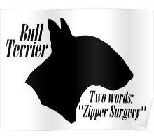 Bull Terrier- warning Poster