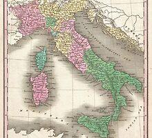 Vintage Map of Italy (1827)  by BravuraMedia
