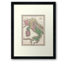 Vintage Map of Italy (1827)  Framed Print