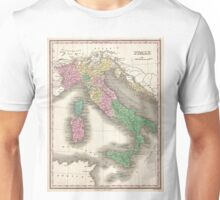 Vintage Map of Italy (1827)  Unisex T-Shirt