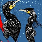 Cormorants by Sue Nichol