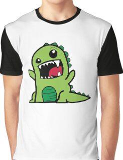 Cartoon comic dino dinosaur green Graphic T-Shirt