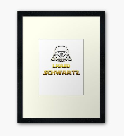 SPACEBALLS LIQUID SCHWARTZ Framed Print