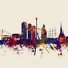 Gothenburg Sweden Skyline by Michael Tompsett