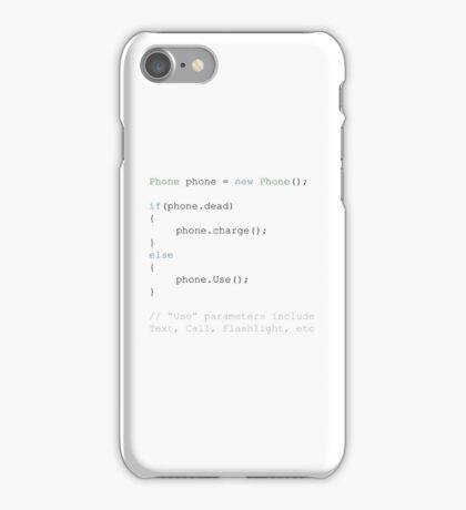 Run Phone Script iPhone Case/Skin