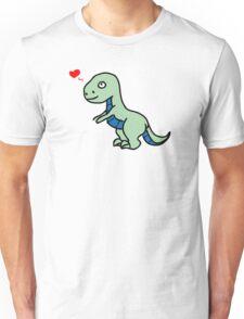 Cartoon comic dino dinosaur green Unisex T-Shirt
