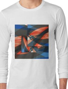 Abstract Art Boards Long Sleeve T-Shirt