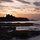 Tantallon sunset by Christopher Cullen