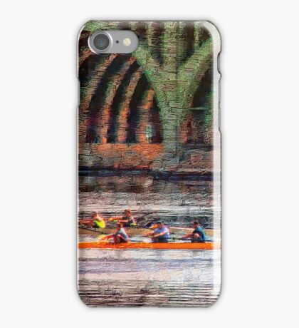 Rowing Under Hanover Street Bridge at Sunrise, Baltimore iPhone Case/Skin