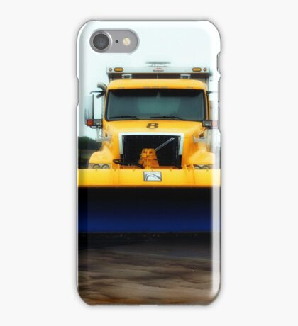 Blue Shovel Yellow Truck  iPhone Case/Skin