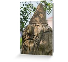 wooden statue in the park Greeting Card