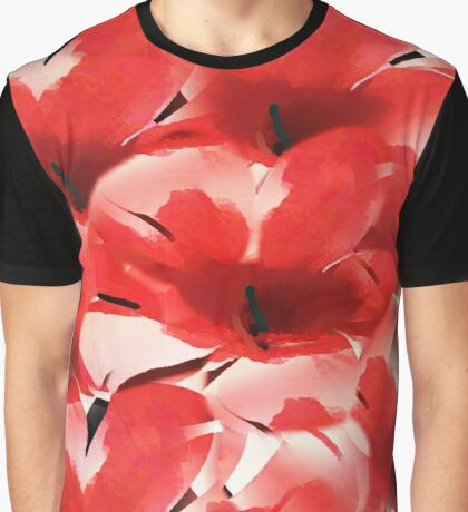 Red Poppies - Painterly Graphic T-Shirt