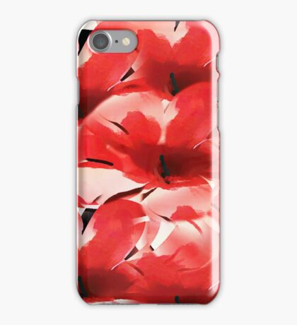Red Poppies - Painterly iPhone Case/Skin